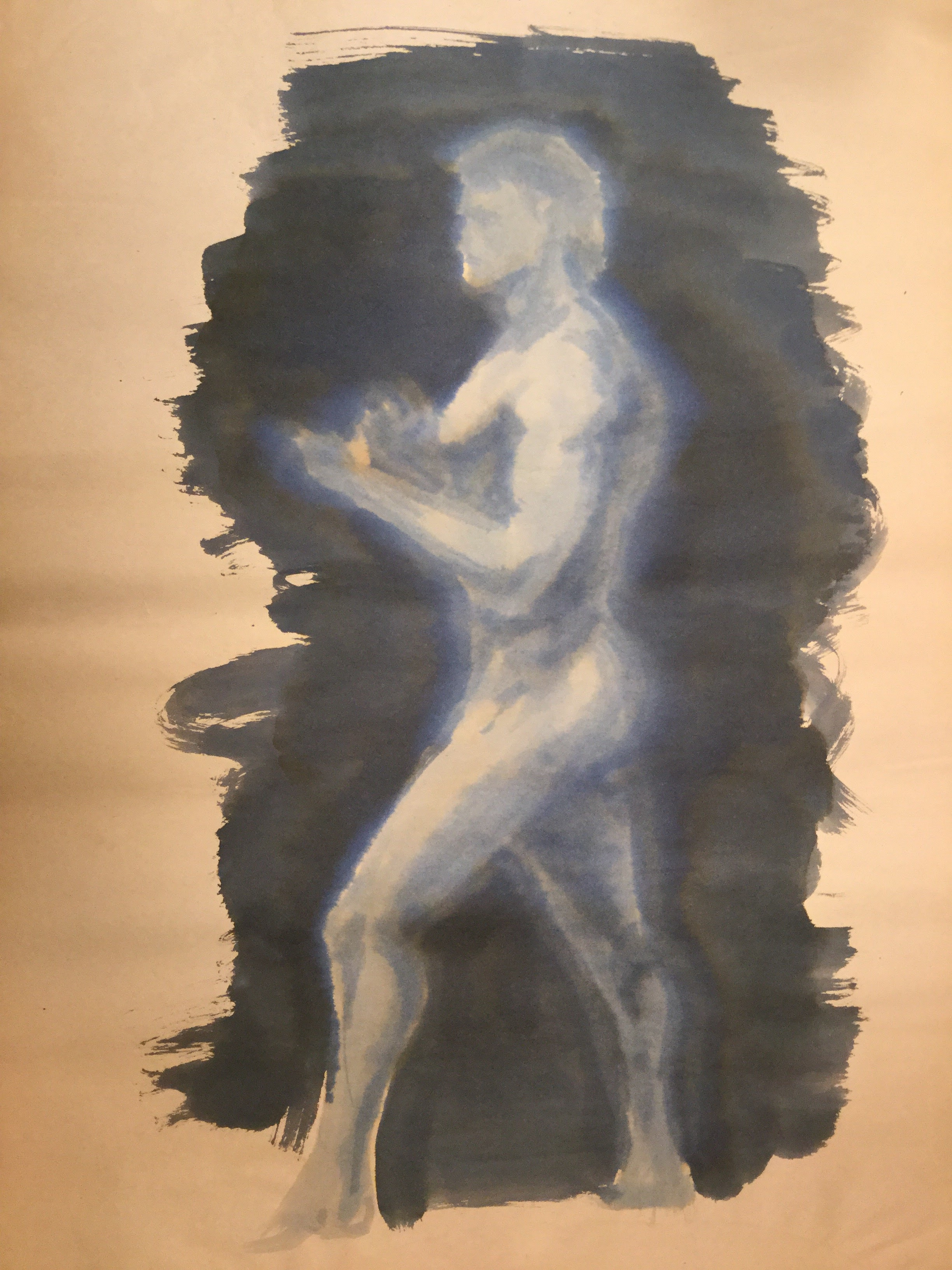 Watercolor Nude Male 01